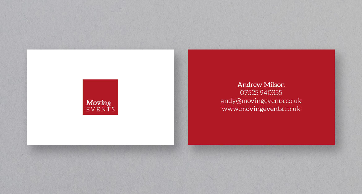 Moving Events Business Card Design