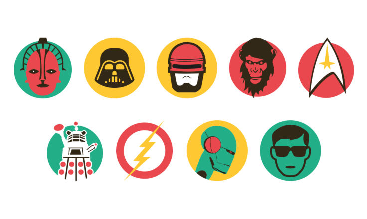 Sci-Fi Icons - Illustration